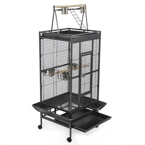 New Large Play Top Bird Cage for African Grey by Best Choice Products