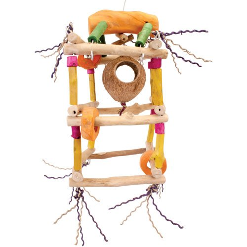 Java Wood hanging Toy for African Grey Parrot