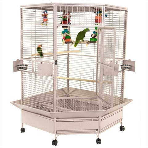 Corner Cage for African Grey Parrots