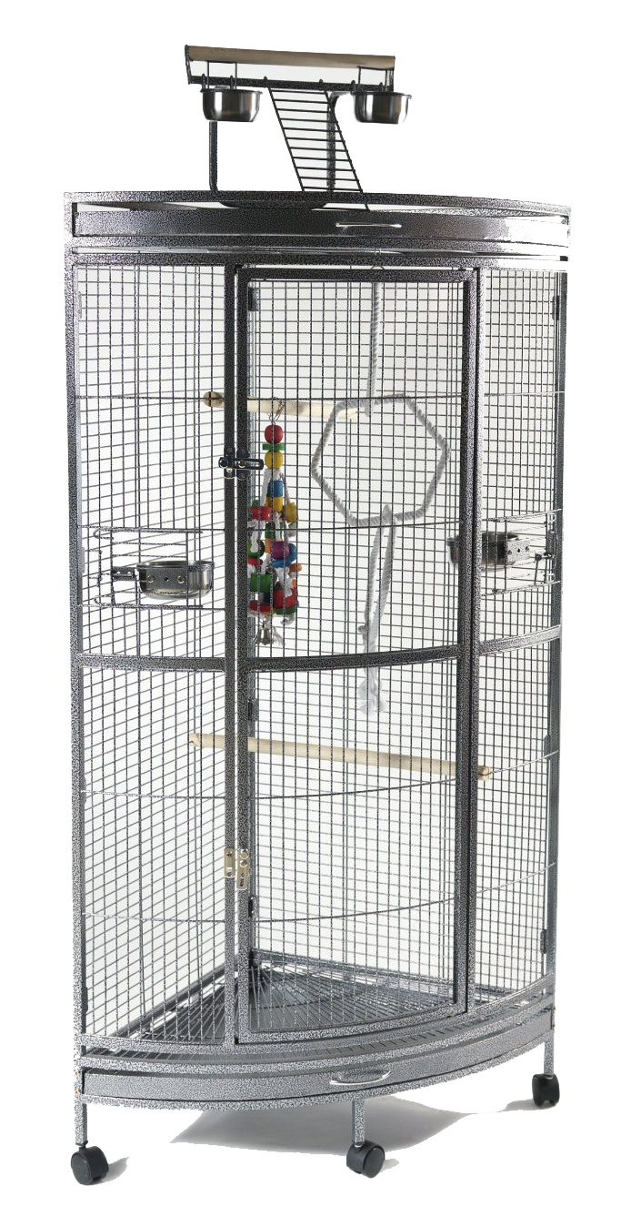 Corner Cage With Play Area