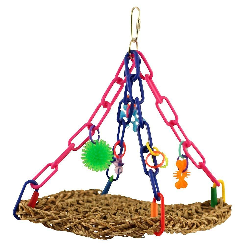 Super Bird Creations Mini Flying Trapeze Toy for African Grey Parrots