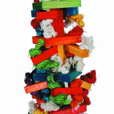Paradise Toys Knots N Blocks for African Grey Parrot